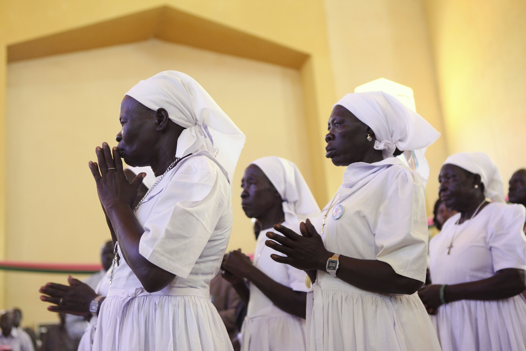 Worshipers at the cathedral in Juba, South Sudan. By Sara Fajardo/CRS