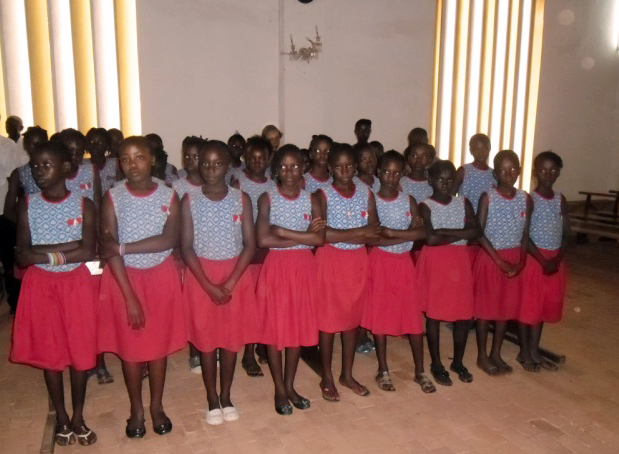 Students  of St. Theresa School in Bangui at a special Mass for reconciliation