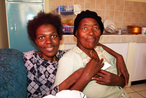 "Khulelaphi Mavuso (pictured with her mother) has received Caritas support from Hope House in Swaziland to cope with the effects of HIV."" Credits: Hough/Caritas"