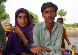 Asmatullah and his 12year old sister, Saima Bibi, are also among those helped with Caritas relief items. Credits: Chaudhury/Caritas Pakistan