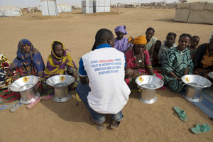 Women are the main user of the oven programme OCADES/HCR In the camp of Godebu in Burkina Faso. Credits: Photo Simone Stefanelli