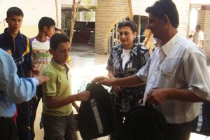 A team of volunteers from Caritas Iraq made a visit to the juvenile reformatory prison on the occasion of Eid al-Fitr and met its detainees teenagers. Credits: Caritas Iraq