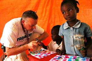 Maurice McQuillian, Trocaire Emergency Response Manager in Pétionville Club's CFS. Credits: MathildeMagnier/Caritas