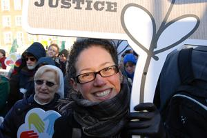 Caritas on the march for climate justice in Copenhagen. Credits: Caritas Denmark