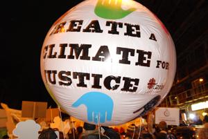The climate justice balloon. Credits: Caritas Denmark