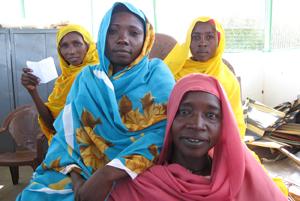 Miriam teaches tailoring in a relief camp in Darfur. Credits: Edwyn Shiell/ACT-Caritas