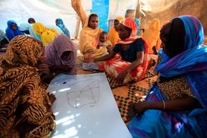 Workshops at NCA hygiene promotion center in Deleij IDPs camp Credit: Mohammed Noureldin/ACT Caritas