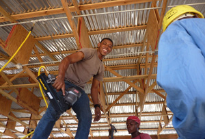 A sustainable and safer future has also been the focus in rebuilding houses in Haiti. Credits: Liz O'Neil/CRS