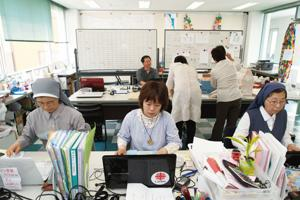 Caritas Japan set up the Sendai Diocesan Support Center to coordinate relief activities. Credits: Caritas Japan
