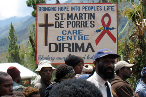 Care centers in PNG are creating awareness on HIV Credits: McMahon/Caritas Australia