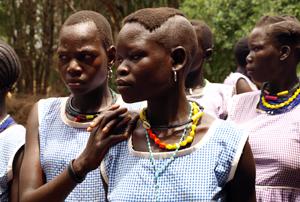 Widows in Uganda sing songs against cattle raiding. Credits: Patrick Nicholson/Caritas