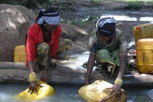 Water, LRA emergency response, TamburaYambio, Credits: Bridget Burrows/CAFOD