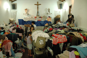 Thousands of people take shelter in churches after recent floods and mudslides in Brazil.  Credits: Gustavo Oliveira/Caritas Brazil