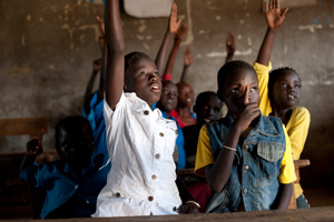 For more than 10 years Caritas in parthership with the Diocese of Torit has been supporting education programmes by providing access to primary education in Sudan. Credits: Elodie Perriot/Caritas