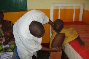 A boy receives treatment for Kala-azar in the Caritas centre Credits: Caritas Somalia