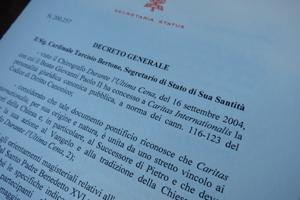 Pope Benedict approves new legal structure for Caritas Internationalis