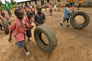 "Children playing in Sudan. ""...Peace can only be achieved by returning to the negotiating table and fully implementing the Comprehensive Peace Agreement."" says Michel Roy, Secretary General of Caritas Internationalis  Credits: Caritas"