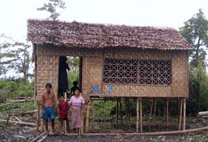 New houses as part of Caritas rebuilding program in Myanmar Credits: Caritas