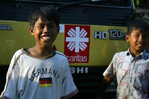 Children from the village of Kampung Tangah in West Sumatra. Credits: James Alcock/Caritas