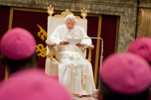 Pope Benedict XVI reaffirmed the Holy See's support for Caritas Internationalis. Credits: Elodie Perriot/Caritas