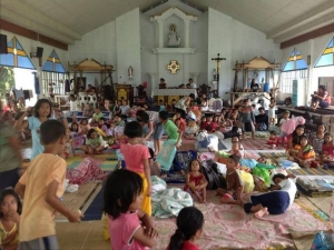 Church evacuation centre in Tacloban City. Photo care of church volunteer.