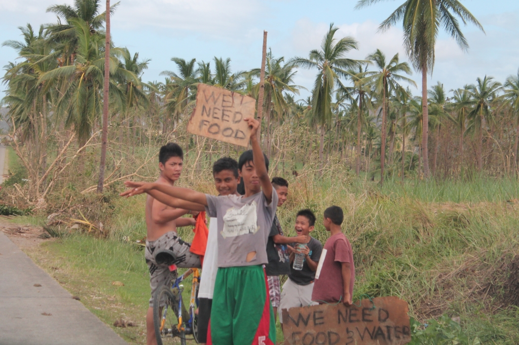 Food is an urgent need in the Philippines. Credit: Caritas