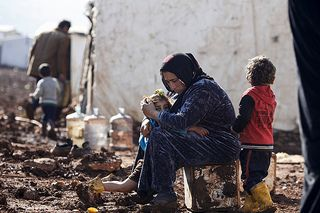 Freezing conditions in Lebanon's Bekaa valley are making life even more difficult for Syrian refugees. Credit: Sam Tarling/Caritas