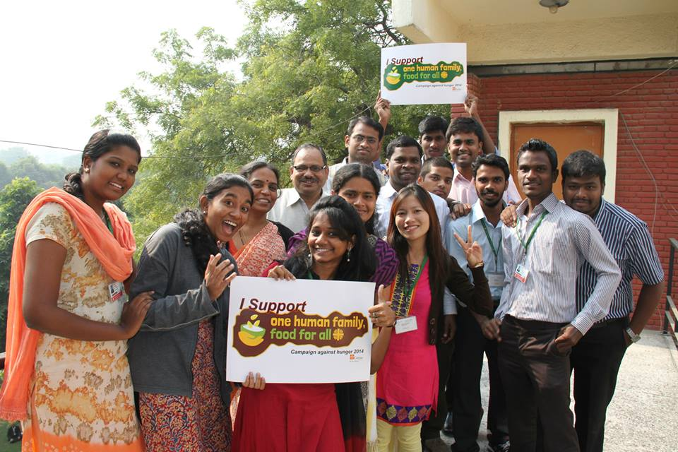 Caritas members from around the world take part in the Food for All campaign. Credit: Caritas India