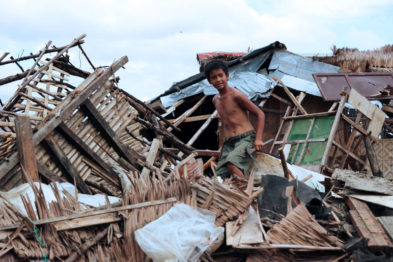 The devastation wreaked by the wind, and the storm surge that followed, is difficult to put into words. Barely a house has survived intact in Palo. Credit: Caritas
