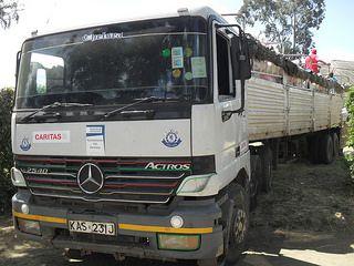 La ayuda de Caritas llegando a Torit, en Sudán del Sur. Créditos: Caritas Suiza