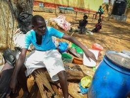 Jacob Jeniso,14 years, retrurned to South Sudan in hope of a brighter future. Credit Joseph Kabiru/CAFOD .