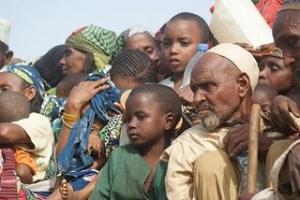 Muslims flee Bouar in Central African Republic. Credit Aurelio Gazzera/Caritas