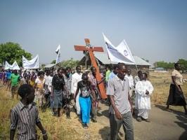 A procession for peace in South Sudan's capital, Juba. Credit Joseph Kabiru/CAFOD