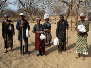 Caritas Namibia distributed beans, sugar and cooking oil to  15,500 households suffering from hunger. Credit: Caritas