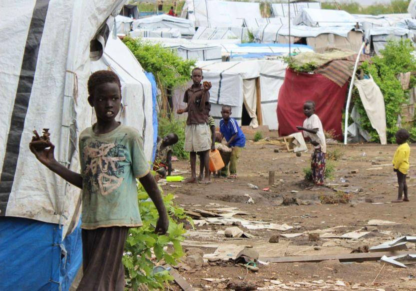 The UN House Juba 3 IDP camp is home to 16,000 people who have fled the violence. Photo by Faith Kasina for Caritas