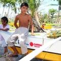 Les bateaux distribués par le diocèse de Palo, à la suite du typhon Haiyan. Crédit : Mark Mitchell / Caritas Nouvelle-Zélande