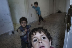 The Syria crisis risks creating a lost generation of children. Photo by Alession Romenzi/Caritas Switzerland.