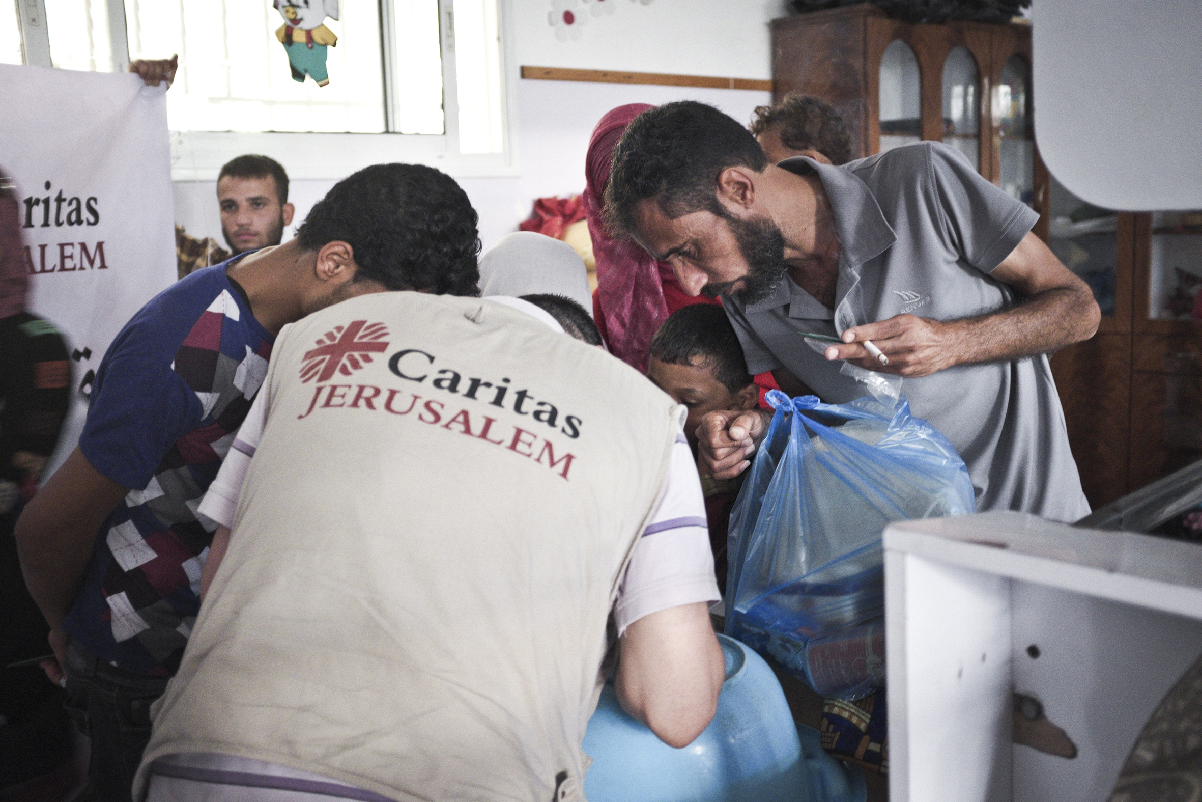 Distribution of donations by Caritas Jerusalem