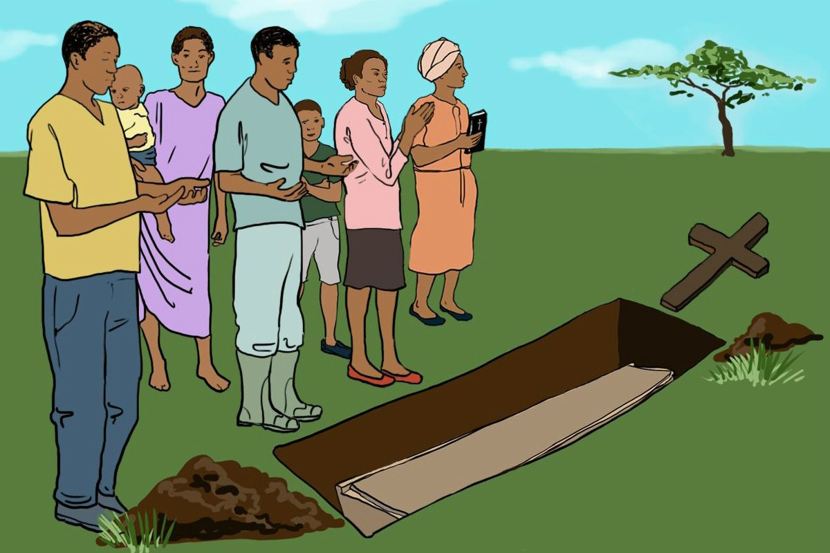 Ebola burial illustration
