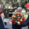 Cardinal Berhaneyesus Demerew Souraphiel, Arcbishop of Addis Ababa and Captain Tessema, the man who imprisoned him. Credit: ECS