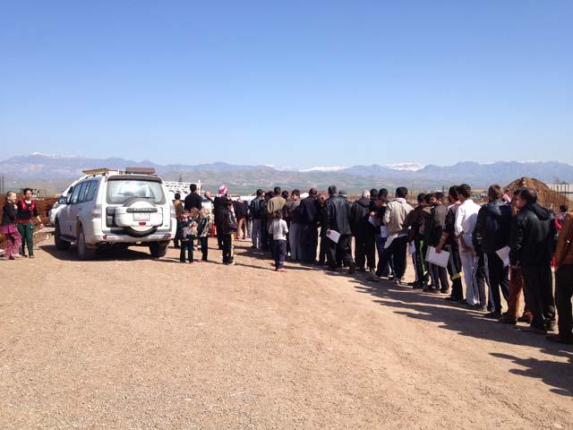 Caritas distribute aid to Yazidi families in Zacho