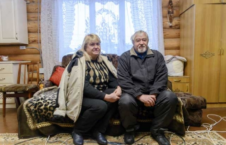 Displaced pensioners yearn for home in Ukraine