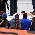 Migrant arriving in Lampedusa. Credit: Caritas Italiana 2014