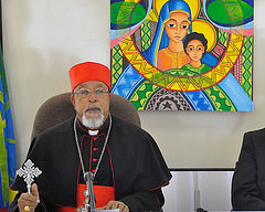 """These terrorist acts do not represent any religion,"" said Cardinal Berhaneyesus. Credit: ECS"