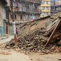 Collapsed buidlings in the Kathmandu. Credit: Caritas Australia