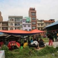 People staying in an open public space in Patan, Kathmandu. Credit: Caritas Australia