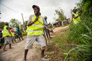 Cleaning up Vanuatu after the storm