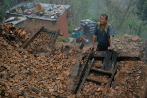 About 75 percent of the houses in Marchugaun had collapsed. Credit: Matthieu Alexandre/Caritas