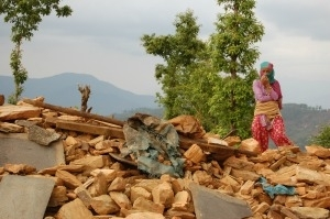90 percent of Chautara in Sindhupalchowk in Nepal have been destroyed. Credit: Caritas Austria
