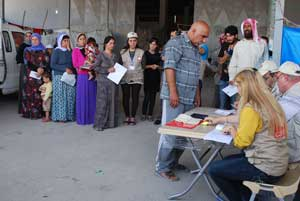 Caritas helps displaced people in the north of Iraqi Kurdistan